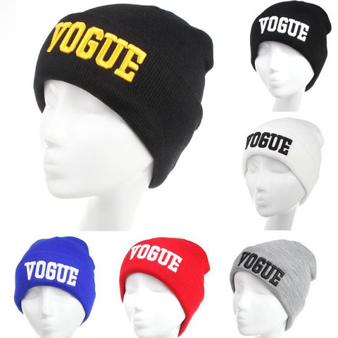 Fashion Hip-Hop Hat VOGUE Skullies Beanies Hats for Women Wool Knitted Hat Cap Men Letter Hat Gorra Bonnet 1MZ0279 - On Trends Avenue