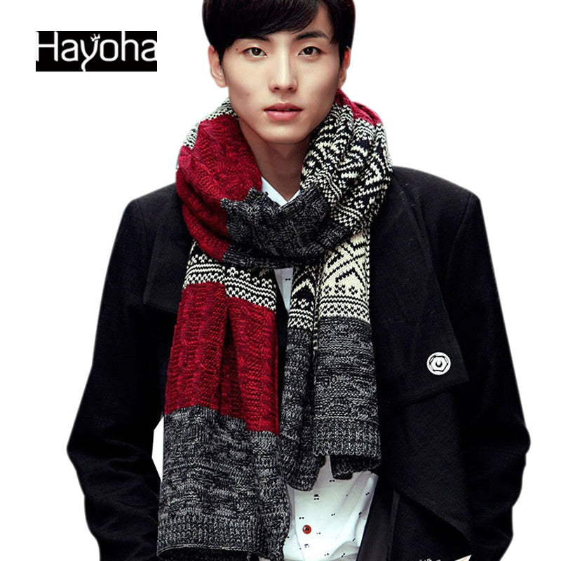 Men's fashion scarves men and women warm wool scarves cashmere scarf - On Trends Avenue
