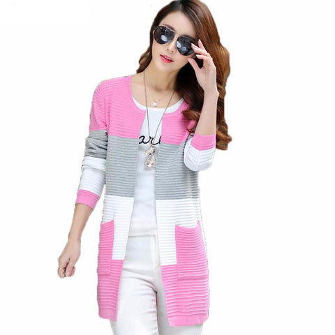 Elegant Women Sweaters Spring Summer Thin Cardigans Knitted Long Cardigan Cotton Haut Femme Ete Blusas Gilet Plus Size XL - On Trends Avenue