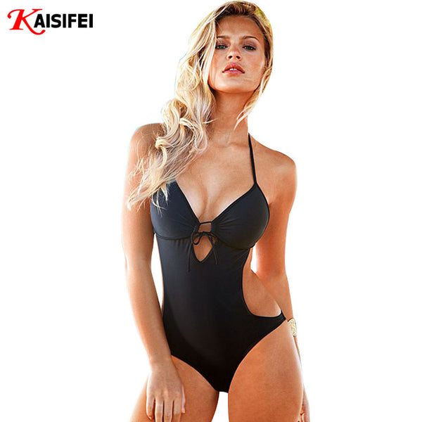 One Piece Swimsuit Sexy Swimwear Women Beach Wear Bathing Suit Swim Bandage Backless Halter Top Monokini Swimsuit - On Trends Avenue