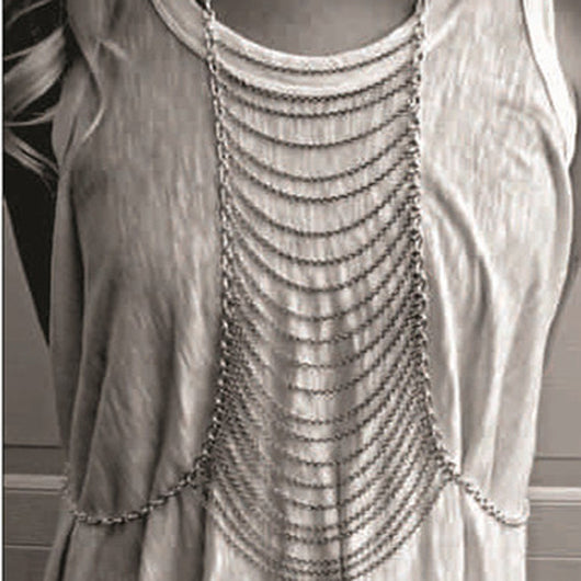 New Sexy Punk Complex Multilayer Body Chains Women Jewelry Gold and Silver Metal Belly Chain Necklace - On Trends Avenue