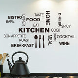 8335 2.5 Creative art kicthen wall stickers home decor Knife fork spoon cute vinyl wall sticker adesivo de parede decoration - On Trends Avenue