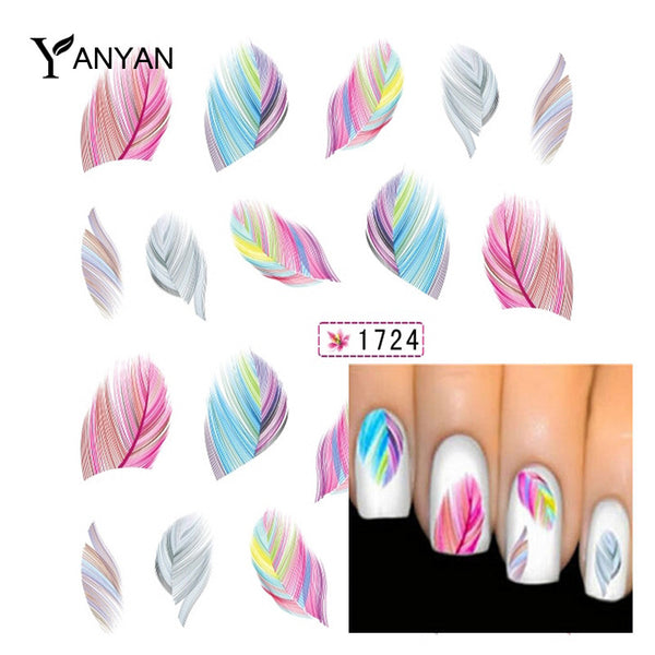 Feather Nail Art Water Transfer Sticker Nail Art Tips - On Trends Avenue
