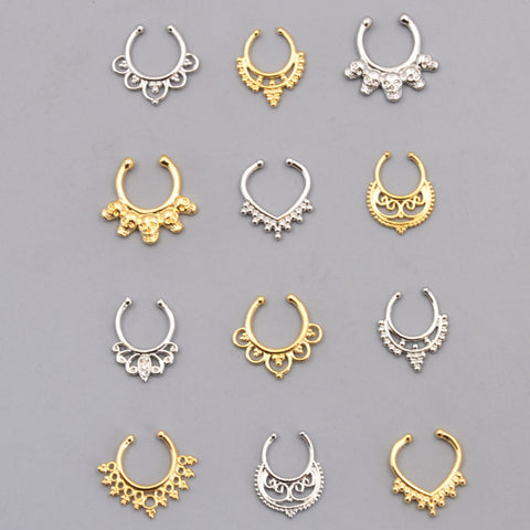 Fashion accessories jewelry New body Puncture rhinestone Copper Nose Rings & studs for women girl BN45 - On Trends Avenue