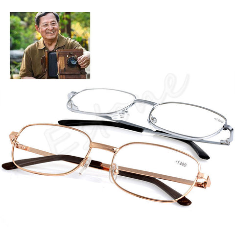 Soo Afordable buy 3 or4 and have them on every room  Metal Anti-fatigue Reading Glasses +1.00 1.50 2.00 2.50 3.00 3.50 4.00 Diopter - On Trends Avenue
