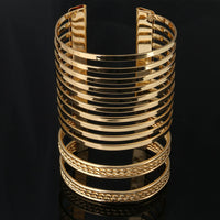 New Vintage Punk Style Hollow Out Braid Multilayer Bangles Fashion Charms Wide Bracelet Women Jewelry Pulseras G019 - On Trends Avenue