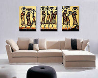 3 Panels Impressionist African Women Canvas Print Oil Painting on Canvas Art Home Decor Wall Pictures For Living Rooms Unframed - On Trends Avenue