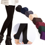 Women Winter THICK Warm Legging Brushed Lining Stretch Fleece Pants Trample Feet Leggings - On Trends Avenue