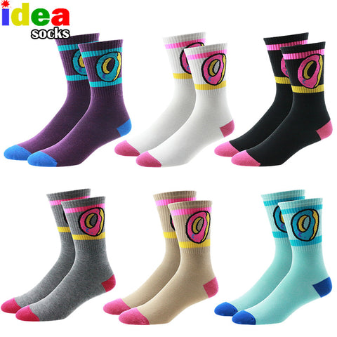 ofwgkta odd future donut graphic men women gosha rubchinskiy cotton long socks novelty skateboard  socks wholesale - On Trends Avenue