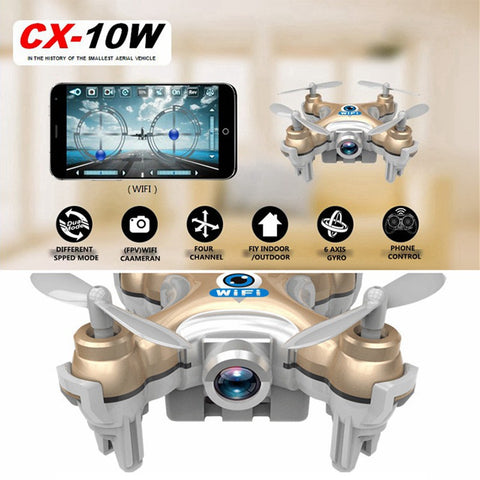 WiFi Drones With Camera Cheerson CX-10W Quadcopters Rc Dron FPV Flying Camera Helicopter Remote Control Hexacopter Toys Copters - On Trends Avenue