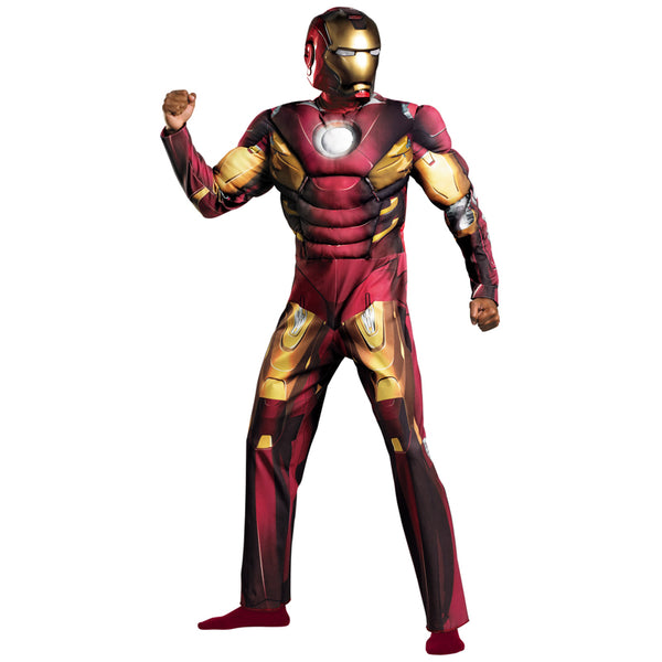 Adult Avengers Iron Man Muscle Halloween Costume Marvel Superhero Fantasy Movie Fancy Dress Cosplay Clothing - On Trends Avenue