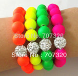3PCS Shamballa Bracelets Candy Colors 10mm Disco Ball Beads - On Trends Avenue