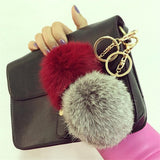 13 Colors Rabbit Fur Keychain Ball PomPom - On Trends Avenue
