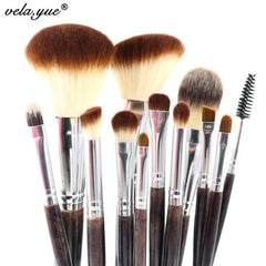 Professional Makeup Brush Set 12pcs High Quality Makeup Tools Kit Violet - On Trends Avenue