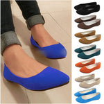 Ladies Pointed Toe Flat Shoes Women Flats Loafers Slip On Shoes Casual Womens Shoes Flats 12 Colors O058 - On Trends Avenue