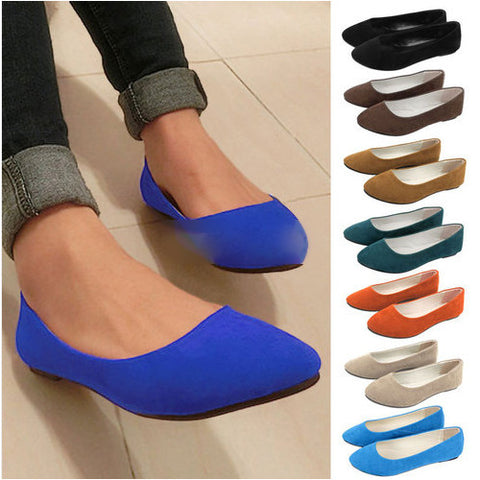 Plus size 35-42 Spring Ladies Pointed Toe Flat Shoes Women Flats Loafers Slip On Shoes Casual Womens Shoes Flats 12 Colors O058 - On Trends Avenue
