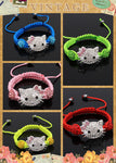 1pc kids hello kitty bead bangle bracelet - On Trends Avenue