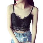 Hot New Sexy Women Lace Bra Bustier Crop Top Bralette Crochet Cropped Beach Halter Vest Blusas Lace Tank Top Camisole femme Z1 - On Trends Avenue