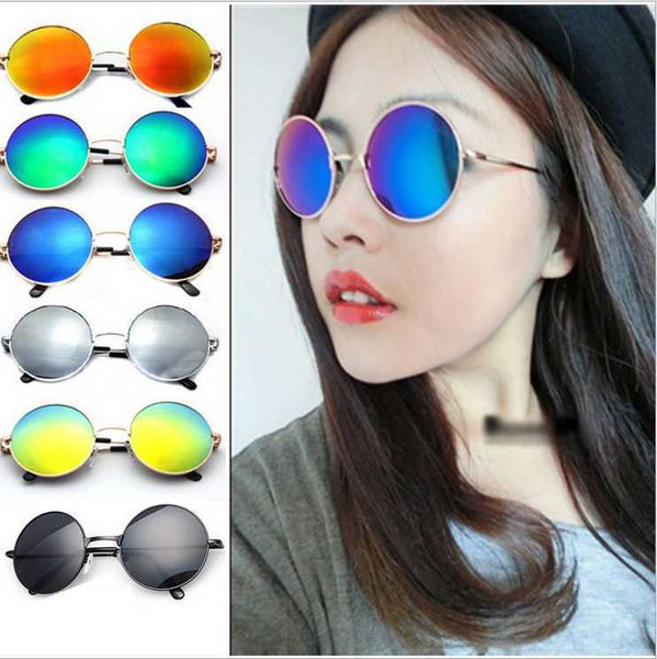 Hot Vintage Round lens Sunglasses Men/women Polarized Gafas Oculos Retro Coating Sun Glasses Round - On Trends Avenue