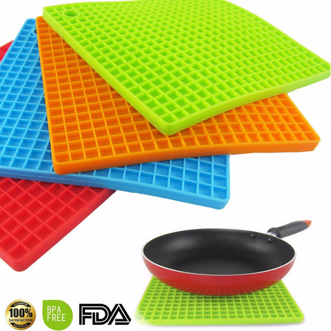 7-inch Silicone Pot Holder, Trivet Mat, jar Opener, spoon Rest   Non Slip, Flexible, Durable,  Heat Resistant Hot Pads - On Trends Avenue