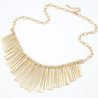 New Statement Choker Vintage Charms Punk Collar Tassels Pendant Gold Plated Necklace Women Fine Jewelry Colares A077 - On Trends Avenue