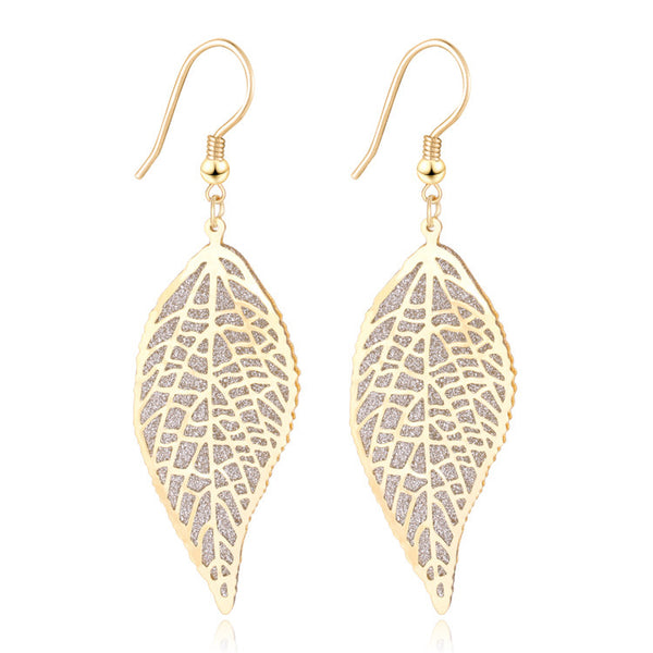 New Brand Bijoux Brincos Fashion Charms Leaf Drop Earrings Vintage Crystal Dangle Earrings Women's Jewelry Gift B020 - On Trends Avenue