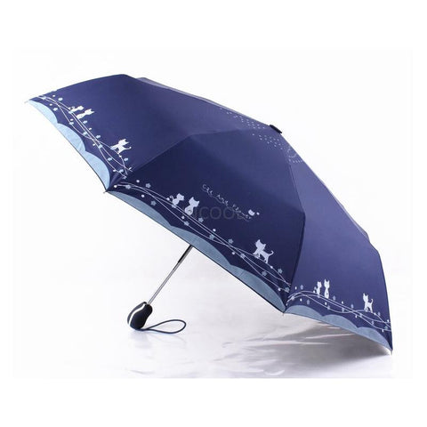 Cat  and  Flowers Windproof Ultralight Sun Rain Automatic Folding Umbrella Rain Women Umbrellas Lady Umbrella parasol