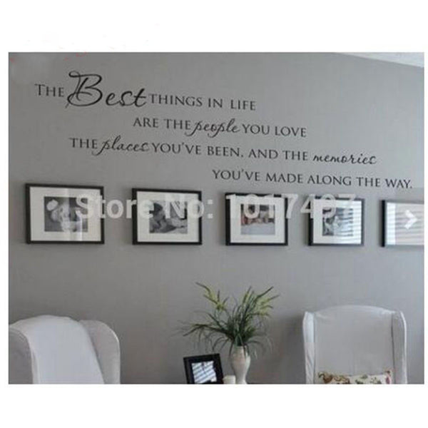 The Best Things In Life Vinyl wall decals ~ Love Memories Wall Quote Home Art Vinyl Decal Sticker - On Trends Avenue