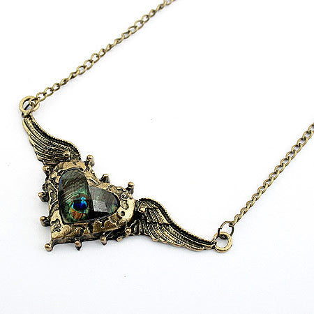 New Statement Choker Bohemia Vintage Charms Peacocks Crystal Wing Necklace&Pendants Women Fine Jewelry A110 - On Trends Avenue