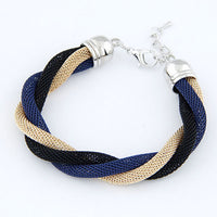 New Brand Design Vintage Charms Elegent Color Alloy With Cuff Punk Braided Rope Bracelet & Bangle Women Jewelry D207 - On Trends Avenue