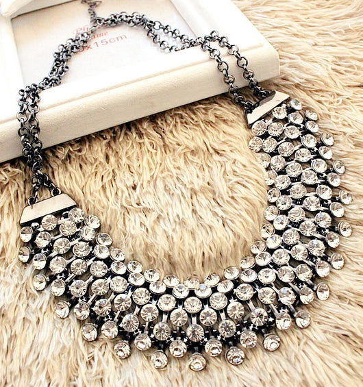New Statement Choker Vintage Chunky Punk Rhinestone Collar Fashion Charms Crystal Necklaces&Pendants Women Jewelry Colares G046 - On Trends Avenue