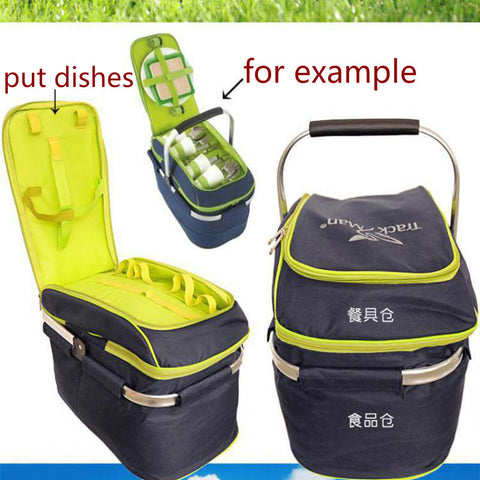 Trackman Camping Outdoor Picnic Basket Portable Folding Large Picnic Bag Basket Food Storage Bags Picnic Handbags Lunch Box - On Trends Avenue