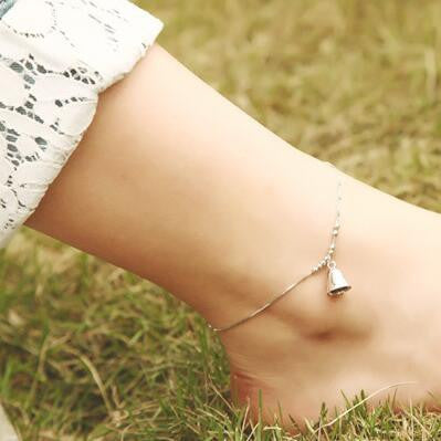 Fashion 925 Silver Lovely Bell Anklets for Women Hot sale Sterling Silver Jewelry Girls Gift Joyas De Plata 925 - On Trends Avenue