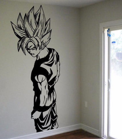 D240 Super Saiyan Goku Vinyl Wall Decal - Dragon Ball Z, DBZ Anime Wall Art, Sticker - On Trends Avenue