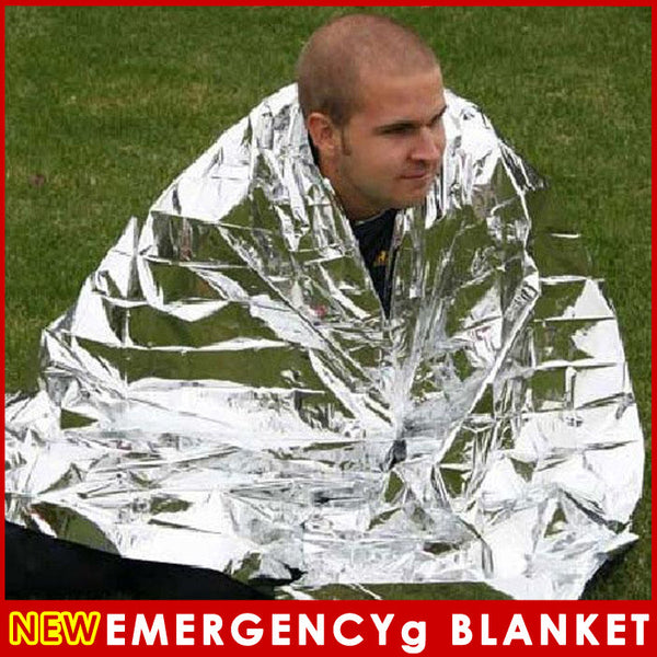 2 PCS Waterproof Emergency Survival Foil Thermal First Aid Rescue Blanket 83 x 62 inch / 210 x 160 cm - On Trends Avenue