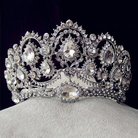 Vintage Rhinestone Crystal Crown Tiara - On Trends Avenue