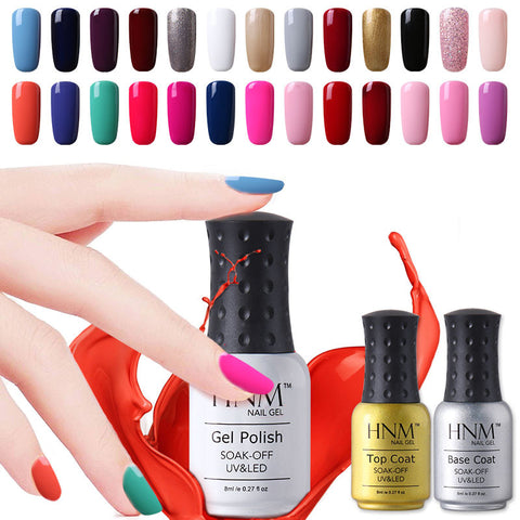 HNM 8ml UV Gel Nail Polish Gorgeous Color Nail Gel Polish Vernis Semi Permanent Top Coat Base Coat Gel Lak Varnishes Gelpolish - On Trends Avenue