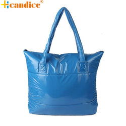 Best Gift Hcandice New Fashion Women Girl Space Bale Cotton Totes Handbag Feather Down Shoulder Bag bea6624 - On Trends Avenue