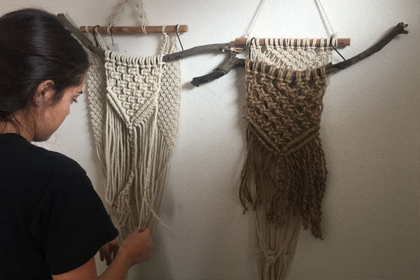 Macrame Art and crystals