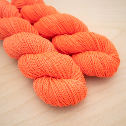 Coral Conch DYED TO ORDER on Merino + Baby Alpaca Worsted