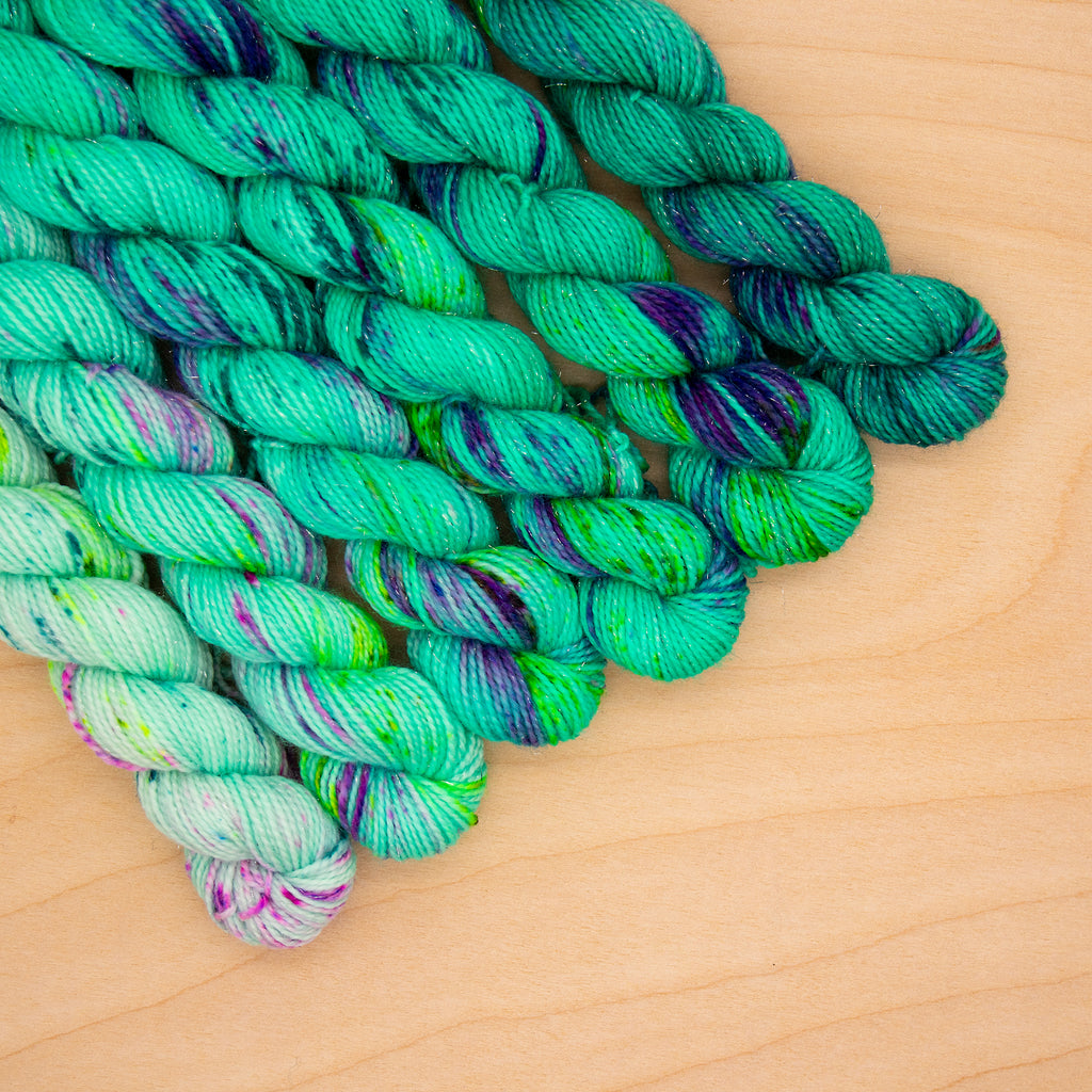 Lucent Lagoon Speckled Fade Mini Skein Set