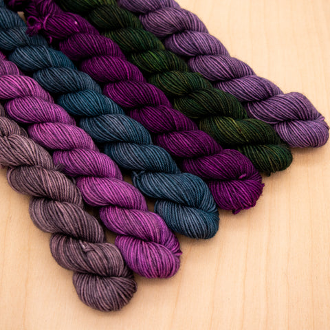 Moody Peacock Mini Skein Set