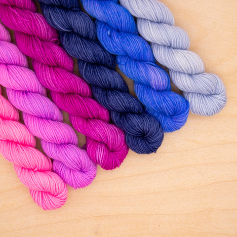 Passionfruit Tonal Fade Mini Skein Set