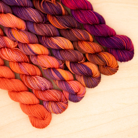 Roasted Eggplant Speckled Fade Mini Skein Set