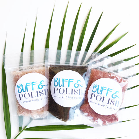 Sampler pack of  Body Scrubs