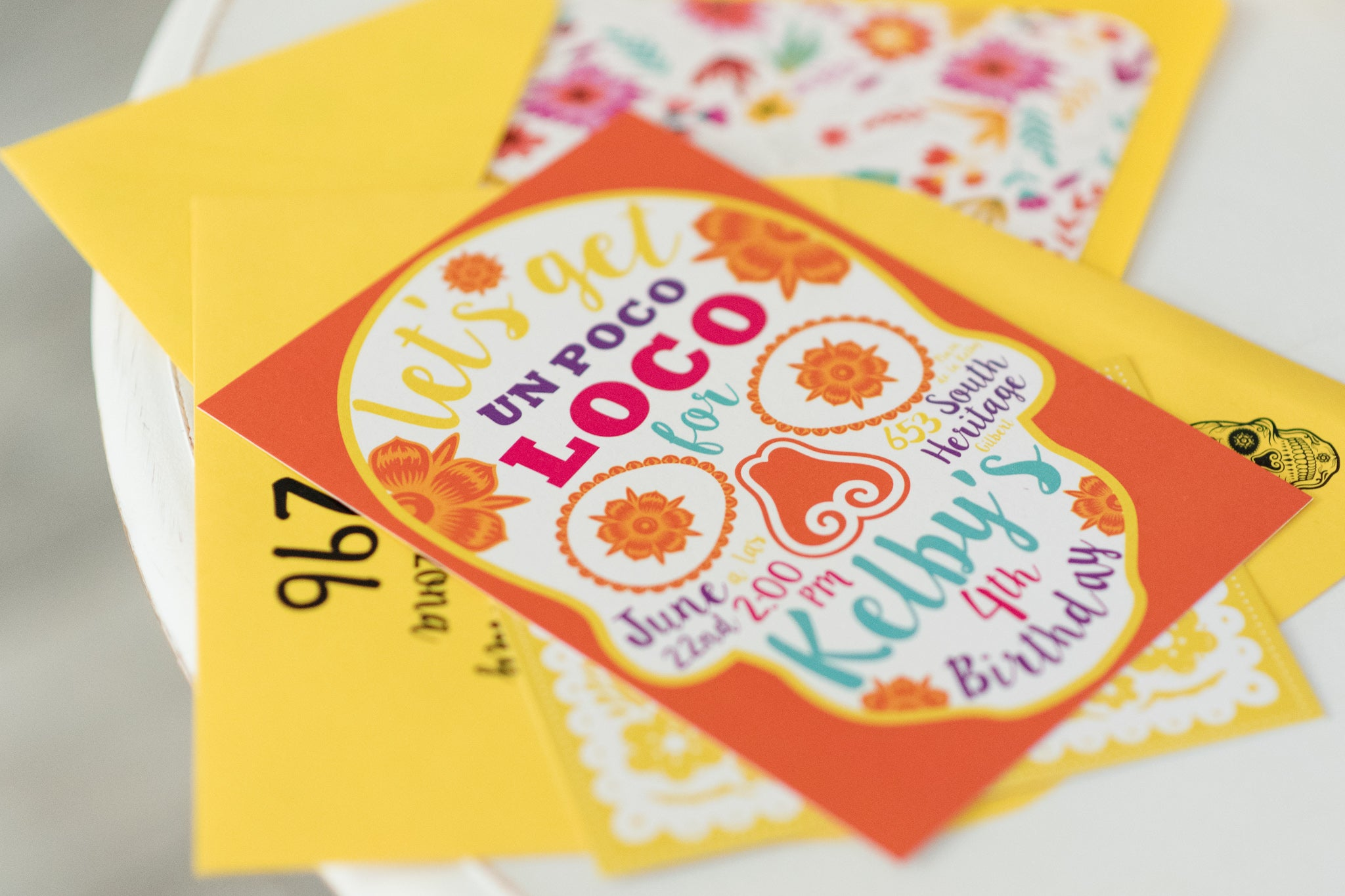 Coco Inspired Birthday Party Invitations