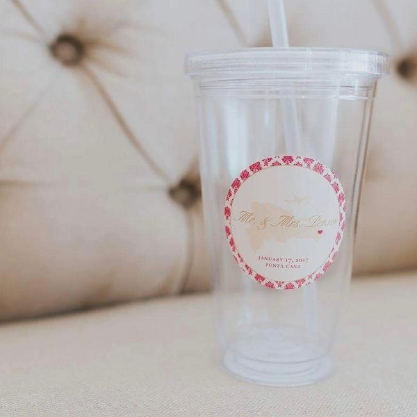 Destination Wedding Tumbler Label