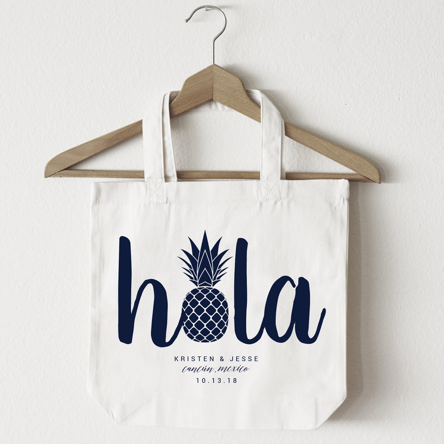 Hola Pineapple, Tote Bag Design