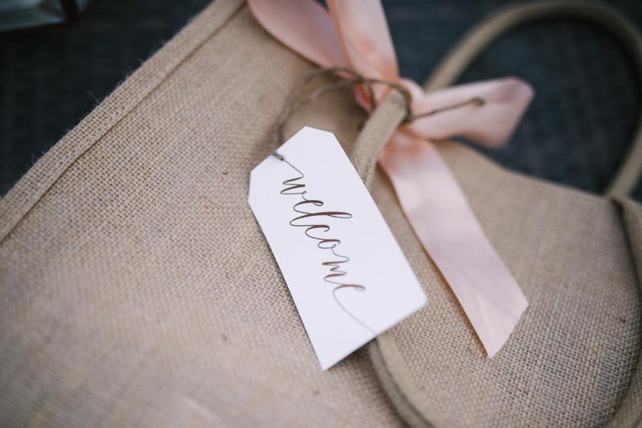 Wedding Welcome Bag / Favors Tag