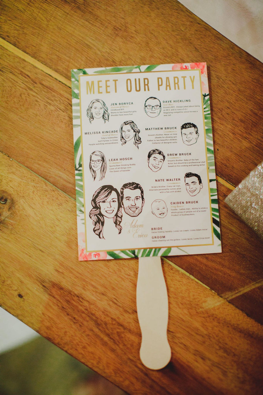 Wedding Ceremony Program Fans